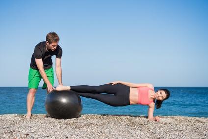 Gymnastikball Fitnesstraining Stabilisationstraining
