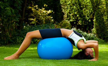 Training mit Gymnastikball